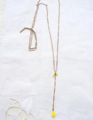 Collection goutte pâte de verre et perles carrées-5