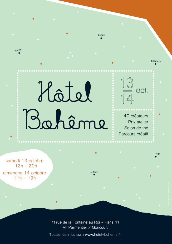 2018 09 05 - Affiche Hôtel Bohème