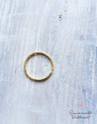 Anneau fin fil 1,2 mm doré à l'or fin