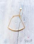bracelet Roseau doré à l'or fin