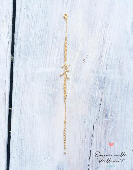 Bracelet Grappe doré à l'or fin
