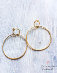 Double anneaux martelés