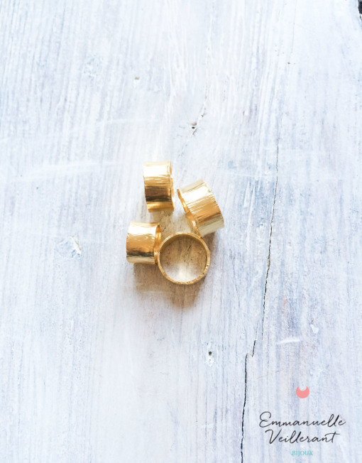 Bagues écorces doré à l'or fin