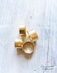 Bagues écorce doré à l'or fin